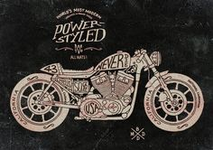 Motorcycle Hand lettering by BMD Design