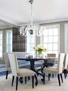 How to Modernize Your Dining Room Upholster it with oil cloth and it could clean up like a booth.