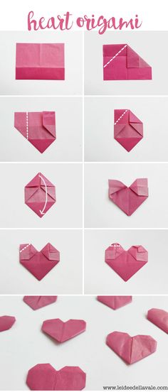 Would you like to decorate your Valentine's Day gift with a beautiful DIY heart origami? No problem, here you will find great instructions Origami heart fold for your DIY gift packaging Nachtigall und Spatz nachtigallundspatz Valentinstag Gesch Diy Origami, Origami Folding, Origami Tutorial, Origami Paper, Heart Origami, Origami Gifts, Origami Instructions, Cute Origami, Origami Boxes