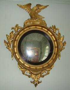 Federal Period Convex Mirror from wayne-mattox-antiques on Ruby Lane Unique Furniture, Online Furniture, Convex Mirror, Mirror Mirror, Mirror Photo Frames, Vintage Mirrors, Magic Mirror, Antique Decor, 18th Century