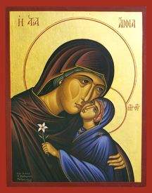 Iconograms features Orthodox icons, lives of Saints, hymns of the Eastern Orthodox Church and Ecards for almost any occasion! Paint Icon, Santa Ana, Immaculate Conception, Spirituality Books, St Anne, Byzantine Icons, Orthodox Christianity, Catholic Saints, Orthodox Icons