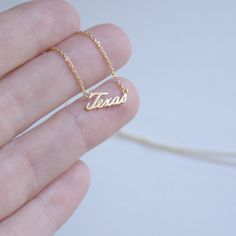 Texas State Necklace Small Texas Charm Necklace by NativeMoss