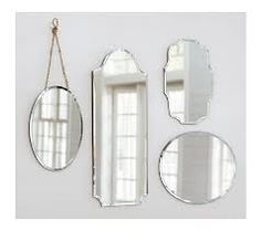 round hanging unframed mirror with decorative hanging cord - Google Search