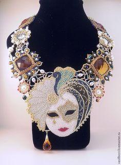 Купить Комплект Карнавальная маска - Праздник, васильева, цитрины, блеск, карнавал, маска