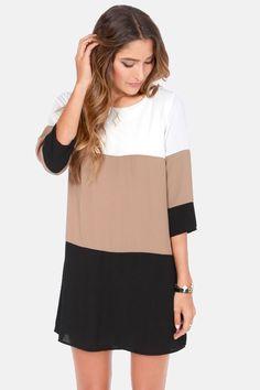 Color Block Shift Dress via lulus.com