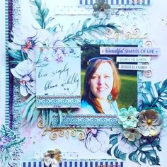 Mixed Media Art, Paper Art, Delicate, Bloom, Layout, Scrapbook, Frame, Flowers, Cards