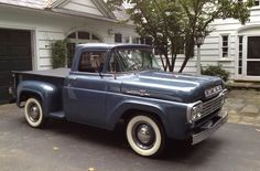 1959 Ford F100. I love the stance. I wanna lower mine to ride like this