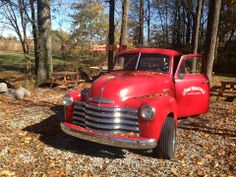 1952 Chevy. The colors of Fall at Short Mountain Distillery