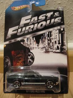 Hot Wheels Ford Mustang Fast & Furious Movie Car Black, 1967