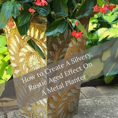 How to Create A Rustic Aged Effect On A Planter