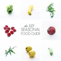 The July Seasonal Food Guide, celebrating everything that is summer. # food guide for babies Amazing Food Displays, Quick Healthy Meals, Healthy Eating, Baby Food Guide, How To Eat Better, Eat To Live, Seasonal Food, Summer Recipes, Whole Food Recipes