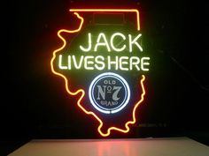 Jack Daniels Illinois State Classic Neon Light Sign 18 x 14