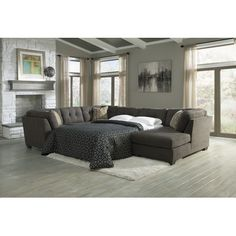 FREE SHIPPING! Shop Wayfair for Signature Design by Ashley Delta City Right Sleeper Sectional - Great Deals on all Furniture products with the best selection to choose from!