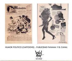 Catalogo de humor politico y publicidad de Panamá y el Canal - Disponible en Weil Art