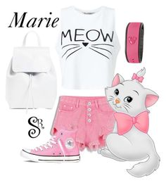 """""""Disney's Aristocats- Marie (Park Ready)"""" by styledright ❤ liked on Polyvore featuring Miss Selfridge, Converse, Disney and Mansur Gavriel"""