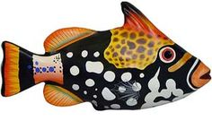 This beautiful paper mache fish was hand formed and hand painted in the studio of Mundo Pequeno. A colorful addition to any decor,  this exquisite piece of artwork is perfect for brightening up any wall and makes a great Christmas, anniversary or birthday gift.