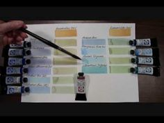 DANIEL SMITH video - Mixing Greens using Quinacridone Gold with Transparent Blues