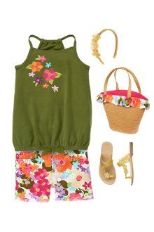 Tropical Garden outfit for girls