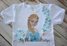 Elsa Frozen Shirt by My Princess Tutu Boutique on Etsy
