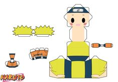 Naruto Uzumaki by PiercePapercraft on DeviantArt Anime Diys, Anime Crafts, Haikyuu Anime, Anime Naruto, Figurine Anime, Paper Doll Template, Instruções Origami, Paper Art, Paper Crafts