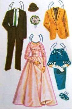 Wedding Paper Dolls, 1964/71 Saalfield/Artcraft #4221 (4432) (4 of 10) | Sharon's Sunlit Memories