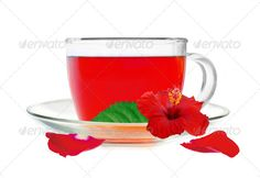 Glass Cup Hibiscus Tea With Hibiscus Flower And Petals Isolated ...  Dried Food, beauty, beauty in nature, brewed, brown, closeup, cup, dry, flower, glass, herb, herbal tea, hibiscus, hibiscus tea, isolated, leaf, nature, petal, plate, red, reflection, rosa, tea, tea leaves, teapot, transparent, white background