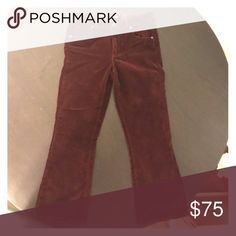 Cropped velvet flare pants Brand new cropped flare velvet pants Paige Jeans Pants Boot Cut & Flare