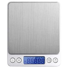Digital Pocket Kitchen Scale, 500g/0.01g Stainless Jewelry & Kitchen Food Scale Weight Compact Scale, Tare, Stainless Steel, Backlit Display - Brought to you by Avarsha.com