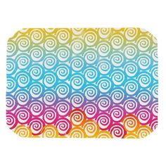 East Urban Home Frederic Levy-Hadida 'Ethnic Spirals' Rainbow Placemat