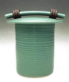 Green Storage Jar: Jan Schachter: Ceramic Jar - Artful Home
