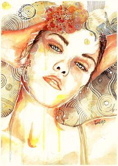 Colorful Portrait Paintings by weroni (Veronika)