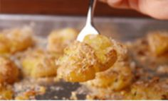 Garlic Smashed Potatoes are just as fun to make as they are to eat. Smash your heart out.
