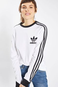 California Long Sleeve T-Shirt by Adidas Originals - Addidas Shirt - Ideas of Addidas Shirt - California Long Sleeve T-Shirt by Adidas Originals New In- Topshop Europe Addidas Shirts, Adidas Originals, Mode Outfits, Fashion Outfits, Pink Fashion, Looks Adidas, Adidas Outfit, Womens Fashion For Work, Shirt Outfit