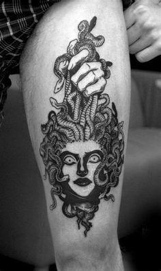 some of my tattoos Back Tattoo, I Tattoo, New Tattoos, Cool Tattoos, Map Compass, Medusa Tattoo, Stick N Poke Tattoo, Ink Art, Vikings
