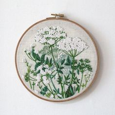 Cow parsley countryside hoop art