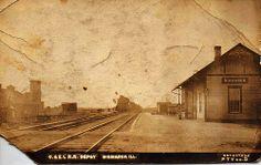 Vintage Postcard: Depot at Bismarck, Illinois