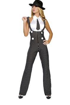2 PC Gangsta Mama Costume Includes, High Rise Suspender Pants and Top with Built in Tie. Nylon/Spandex. MADE IN USA. PLEASE NOTE: Due to the popularity of this item it may take an additional 4 day for processing of this item. 2 Day shipping will not expedite this only the shipping time. For more information please see our Store Policy.