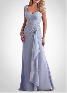Graceful A-line Queen Anne Neckline Empire Waist Floor Length Mother of the Bride Dresses
