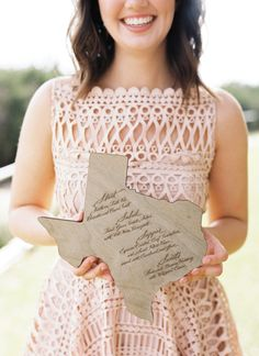 Texas Laser Cut Menu by Southern Fried Paper // Southern Weddings V8: Texas Sweethearts - Southern Weddings