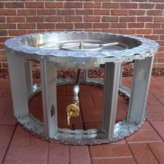 prefabricated round fire pit frame with a manual match lit operation. Features a ledge and available for propane or natural gas. Our ready-to-finish fire pit frames are the best way to create a masonry fire pit. Small Fire Pit, Modern Fire Pit, Diy Fire Pit, Fire Pit Backyard, Fire Pits, Backyard Patio, Diy Propane Fire Pit, Square Fire Pit, Round Fire Pit