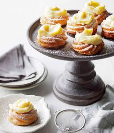 Zeppole di San Giuseppe - an little Italian doughnut with a delicious lemon custard cream on top. Can't wait to try!