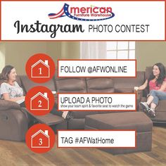It's football season folks!  Show us your team spirit and favorite seat to watch the game for the chance to win a $100 gift card from American Furniture Warehouse.  Rules link in bio!  #giveaway #photocontest #contest #home #homes #football #instahome #instadecor #decor #interiordesign #interiordecor #homestyle #beautifulhomes #beautifulhome #homesweethomr #september #preseason #footballplayer #sport #sports #kickoff #game #games