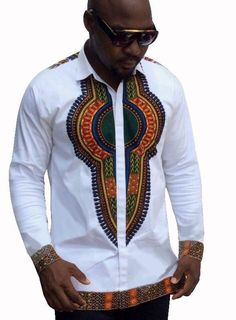 MSA Signature Men African Dashiki Clothing Men Traditional Bazin Riche African Style Printed T-shirts Long Sleeve Dashiki Shirt Dashiki Shirt, Mens Dashiki, Dashiki Dress, African Fashion Designers, African Print Fashion, Ankara Fashion, Africa Fashion, African Prints, Men's T Shirts