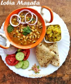 Lobia Masala - Lobia curry recipe | black eyed peas curry perfect vegetarian side dish for lunch or dinner. Fried Fish Recipes, Veg Recipes, Curry Recipes, Vegetarian Recipes, Cooking Recipes, Cheap Recipes, Dishes Recipes, Fast Recipes, Gourmet