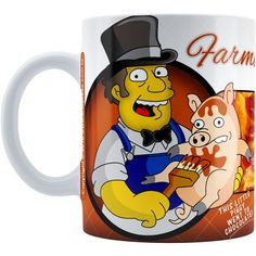 Caneca Chocolate Os Simpsons Farmer Billys
