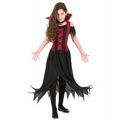 KIDS HALLOWEEN EFFRAYANT VAMPIRE cape 5-7 ANS garçons fille robe fantaisie enfant Dracula