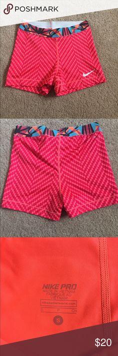 9ea110064ba8d Nike Pro spandex shorts size small Cute patterned Nike Pro Dri Fit spandex  shorts. Gently