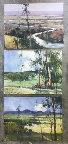 This would be a nice way to mount 3 themed small paintings! Herman Pekel, full sheets