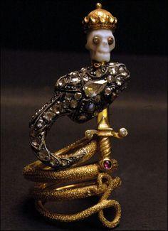 """""""Memento Mori"""" by Codognato – Realm of Jewellery by Lusine Chilingarian Memento Mori, Victorian Jewelry, Antique Jewelry, Vintage Jewelry, Snake Jewelry, Skull Jewelry, Jewellery, Jewelry Gifts, Jewelry Box"""