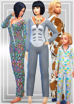 The Sims 4 | KIWISIMS4 Onsie | CAS clothing new mesh for female and male adult and child